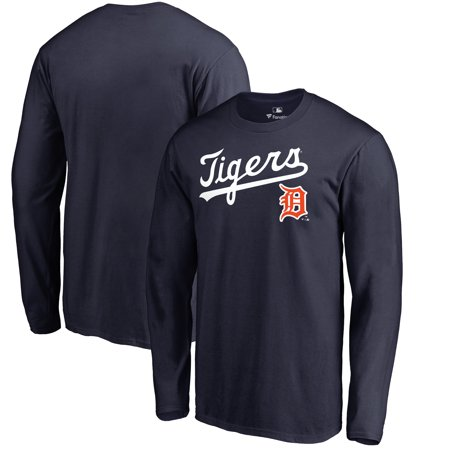 Detroit Tigers Fanatics Branded Big & Tall Cooperstown Collection Wahconah Long Sleeve T-Shirt - Navy