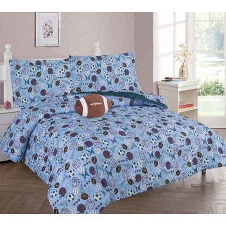6-PC TWIN MVP Complete Bed In A Bag Comforter Bedding Set With Furry Friend and Matching Sheet Set for Kids