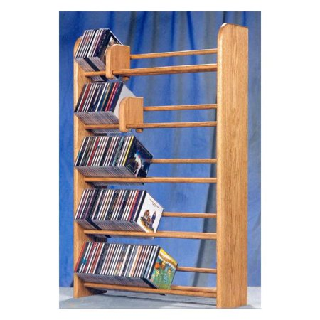5 Row Dowel CD Rack (Honey Oak)
