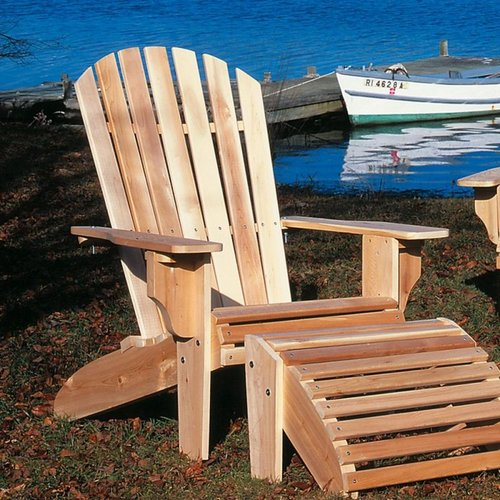 Rustic Natural Cedar 040404A Cedar Looks Adirondack Oversized Chair