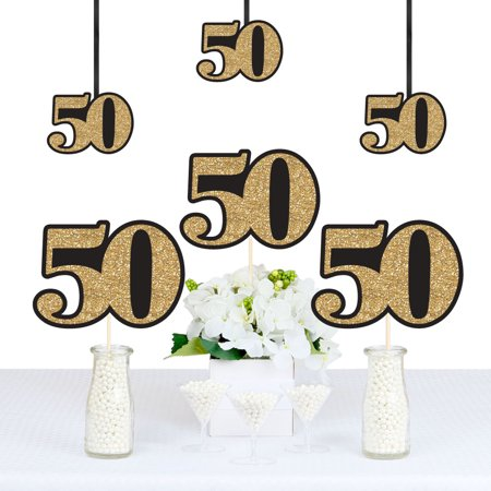 Adult 50th Birthday - Gold - Decorations DIY Party Essentials - Set of 20 (50th Birthday Decoration Ideas)