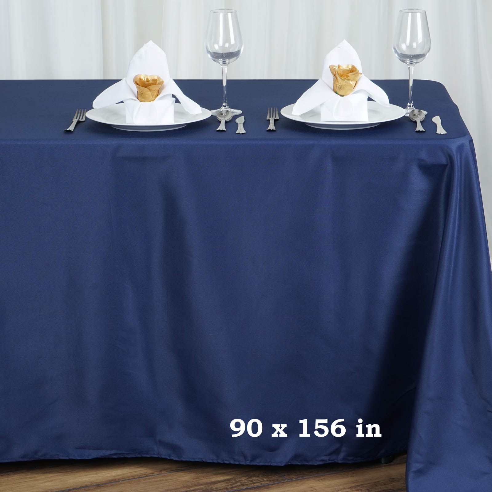 "Efavormart 90x156"" Polyester Rectangle Tablecloths for Kitchen Dining Catering... by"