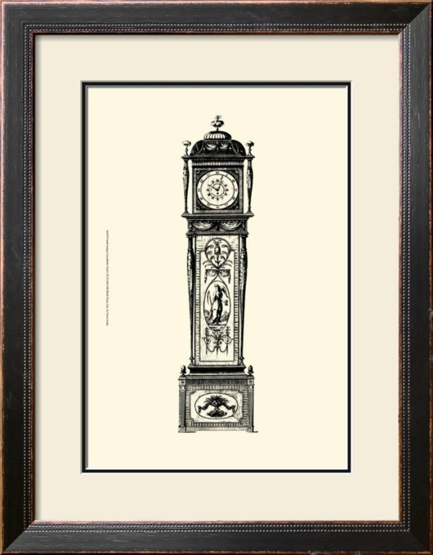 Antique Grandfather Clock I Framed Artwork Print Wall Artwork 21x27 by Art.com