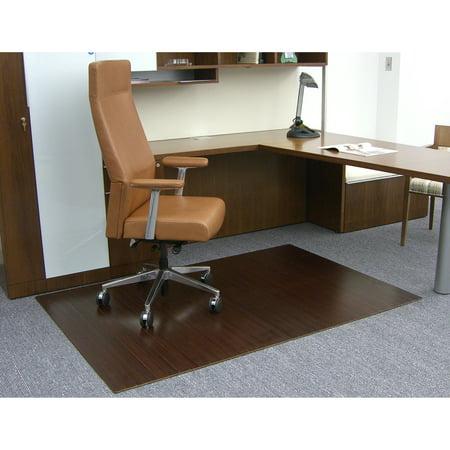 Dark Cherry 48 X 72 Bamboo Roll Up Office Chair Mat