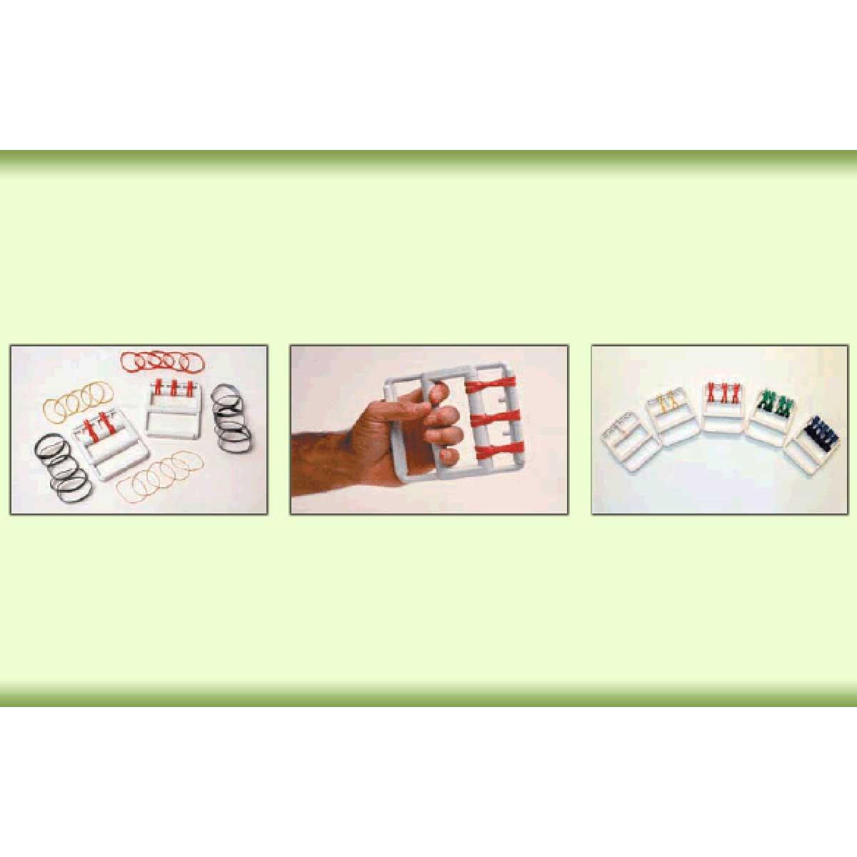 CanDo color-coded rubber band hand exerciser, 50 each (bulk)