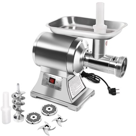 Manual Tinned Meat Grinder - Gymax Commercial Grade 1HP Electric Meat Grinder 1100W Stainless Steel Heavy Duty #22