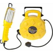 Bayco Sl-8908 26-watt Fluorescent Work Light w/Single Outlet on 50ft Reel