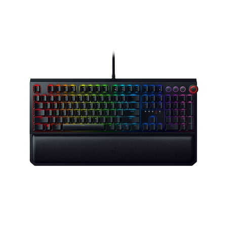 Razer BlackWidow Elite: Esports Gaming Keyboard - Multi-Function Digital Dial with Dedicated Media Controls - Ergonomic Wrist Rest - Razer Green Mechanical Switches (Tactile and