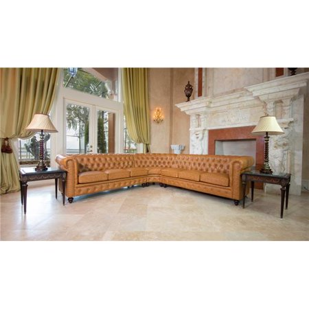 AFD Home 12014120 Classic Chesterfield Sectional - Tan ()