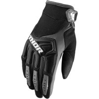 Thor Youth Spectrum Motorcycle Glove Short Cuff (Solid Black, 2X-Small)