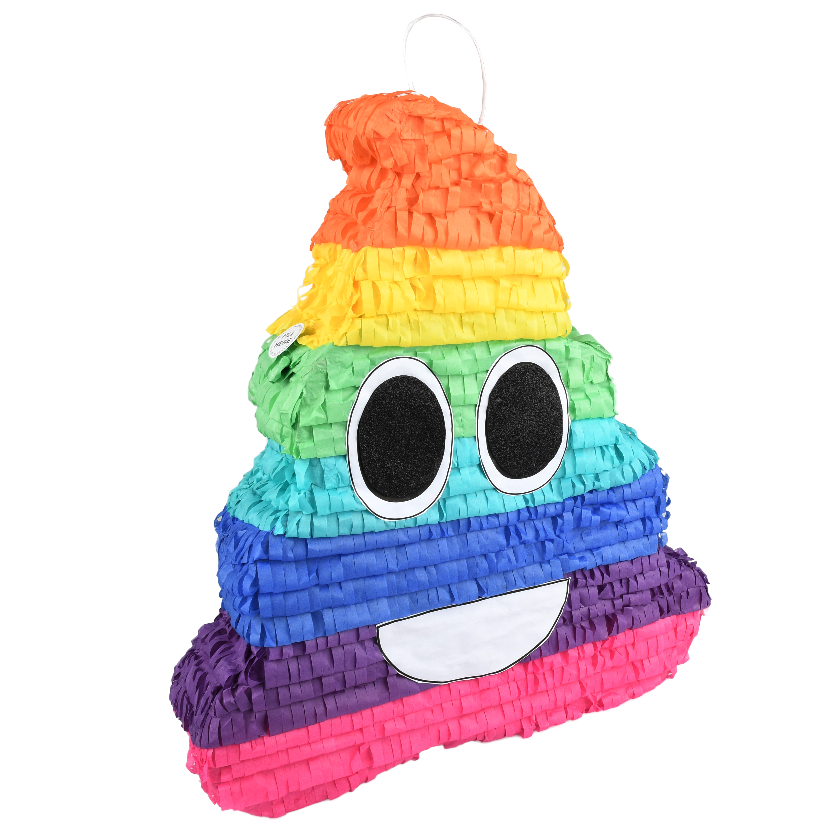 Rainbow Swirl Emoji Party Pinata, Traditionally Handcrafted