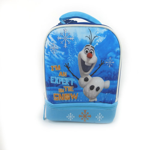 Frozen Disney Olaf Dual-Compartment Insulated Lunch Kit, Blue