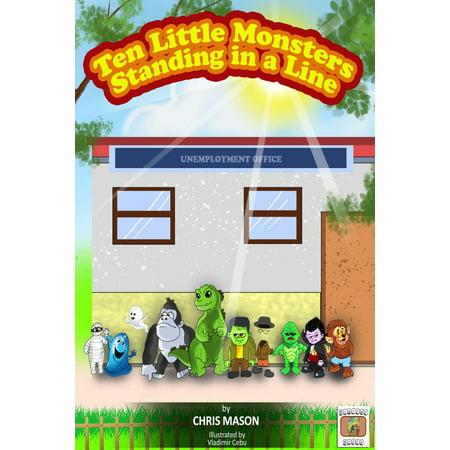 Ten Little Monsters Standing in a Line - eBook (Standing In The Scratch Line)