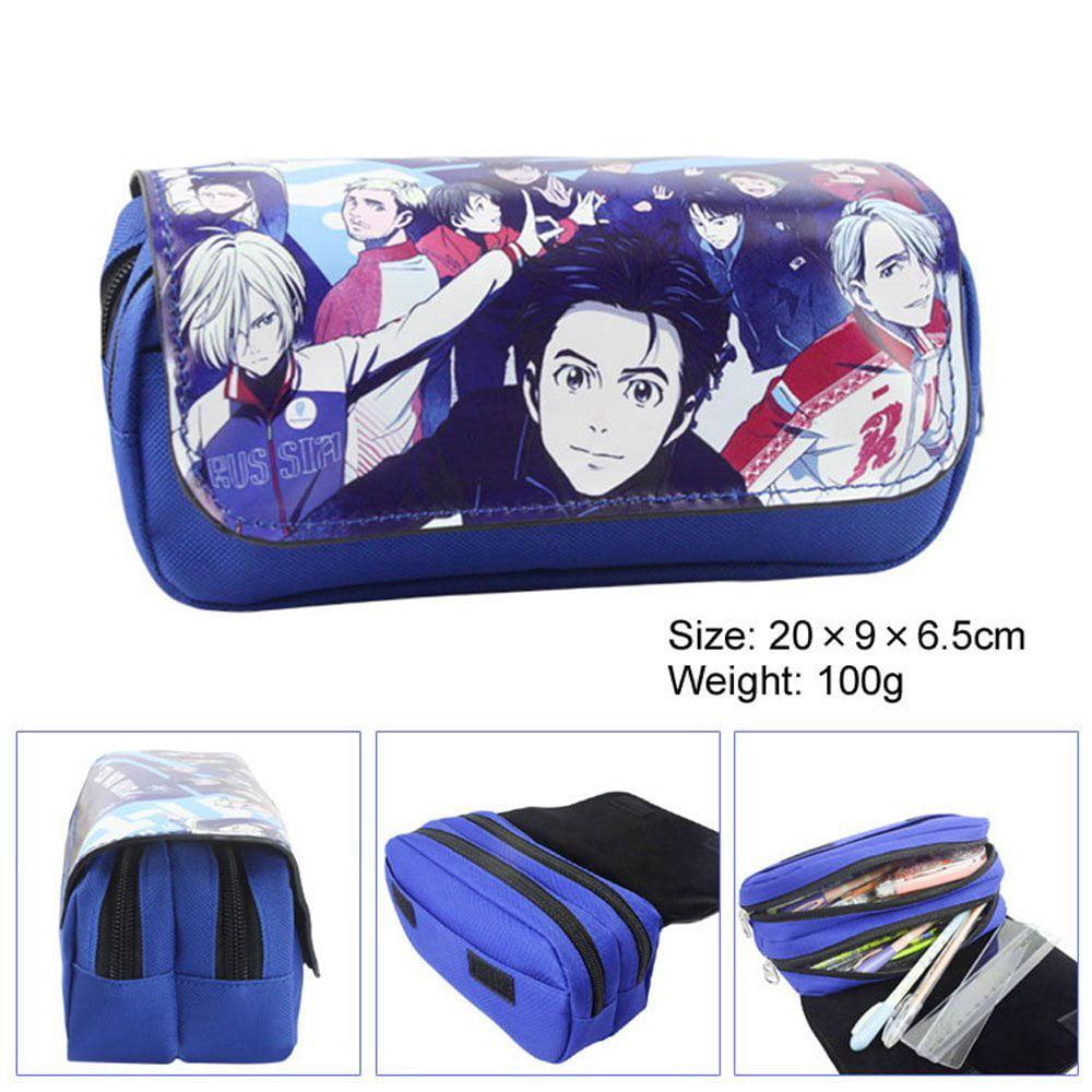 Yuri On Ice Anime Cartoon Cosplay Large Capacity Pencil Case Pen Bag