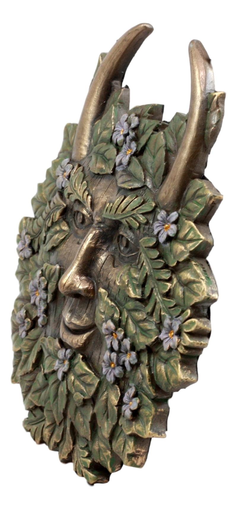 "Ebros Gift The Horned God Spring Season Greenman Pan Wall Decor Plaque 7/"" Wide"