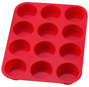 The Essentials Essentials Muffin Pan - Silicone - Red