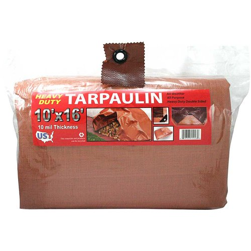 Heavy Duty Brown and Tan Tarp, 10' x 16'