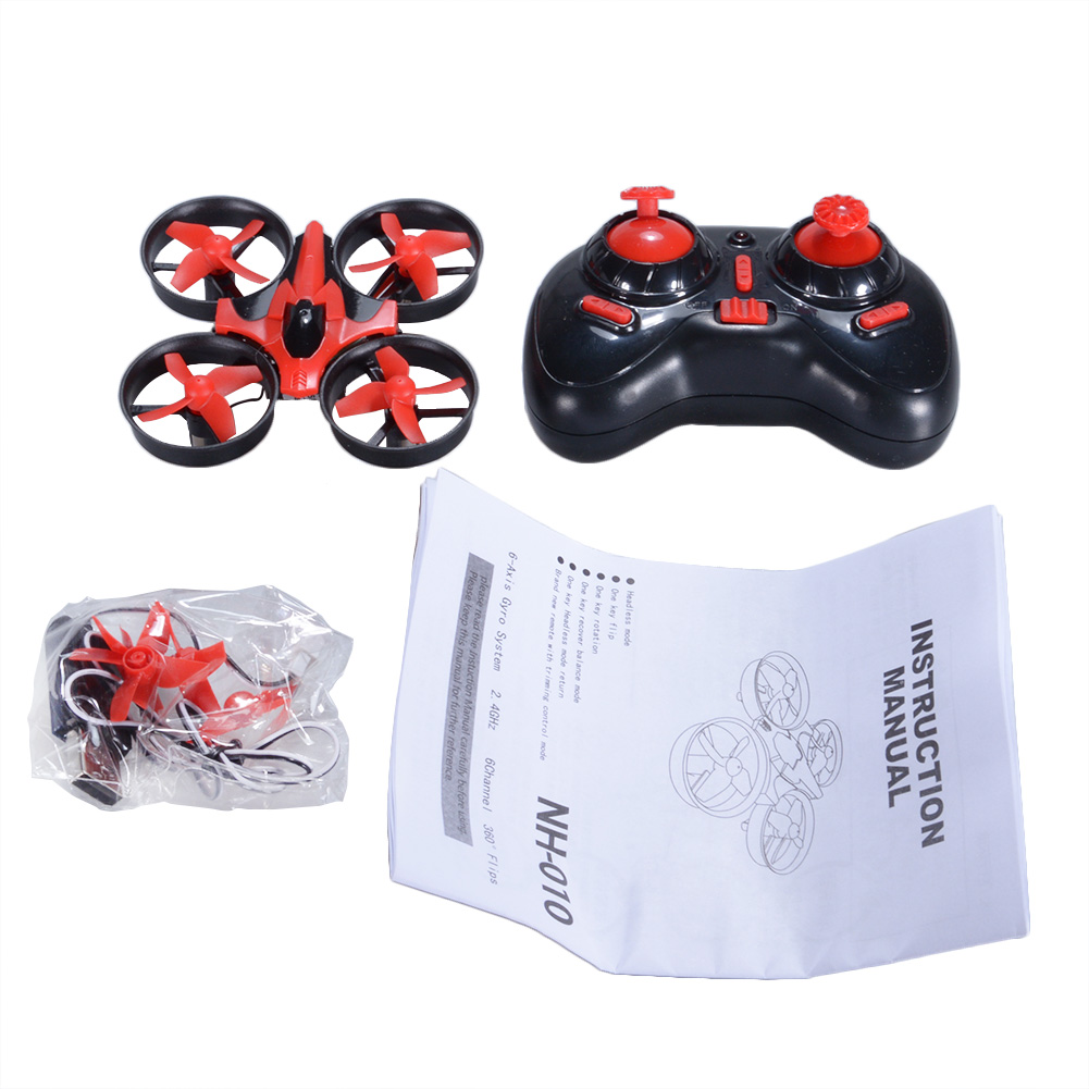 NIHUI NH010 Mini Drone 2.4G 6-Axis Gyro Headless Mode Remote Control Quadcopter (Red) - image 5 of 7