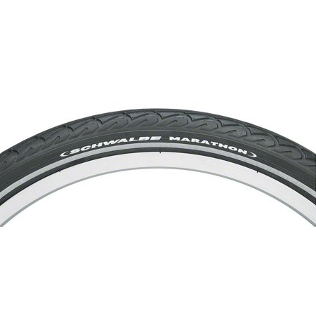 Schwalbe Marathon Tire, 20x1.5 Wire Bead Black with Reflective Sidewall and GreenGuard Protection