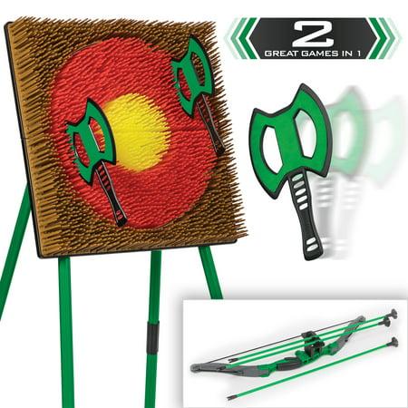 Go! Gater Tomahawk Toss & Archery Set