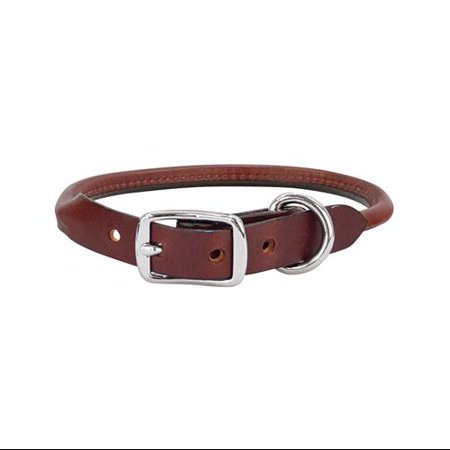 Weaver Leather Llc Briarwood Dog Collar Rolled Brown Leather 34 X