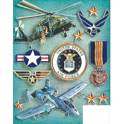 K & Company Military Grand Adhesions Embellishments, Air Force