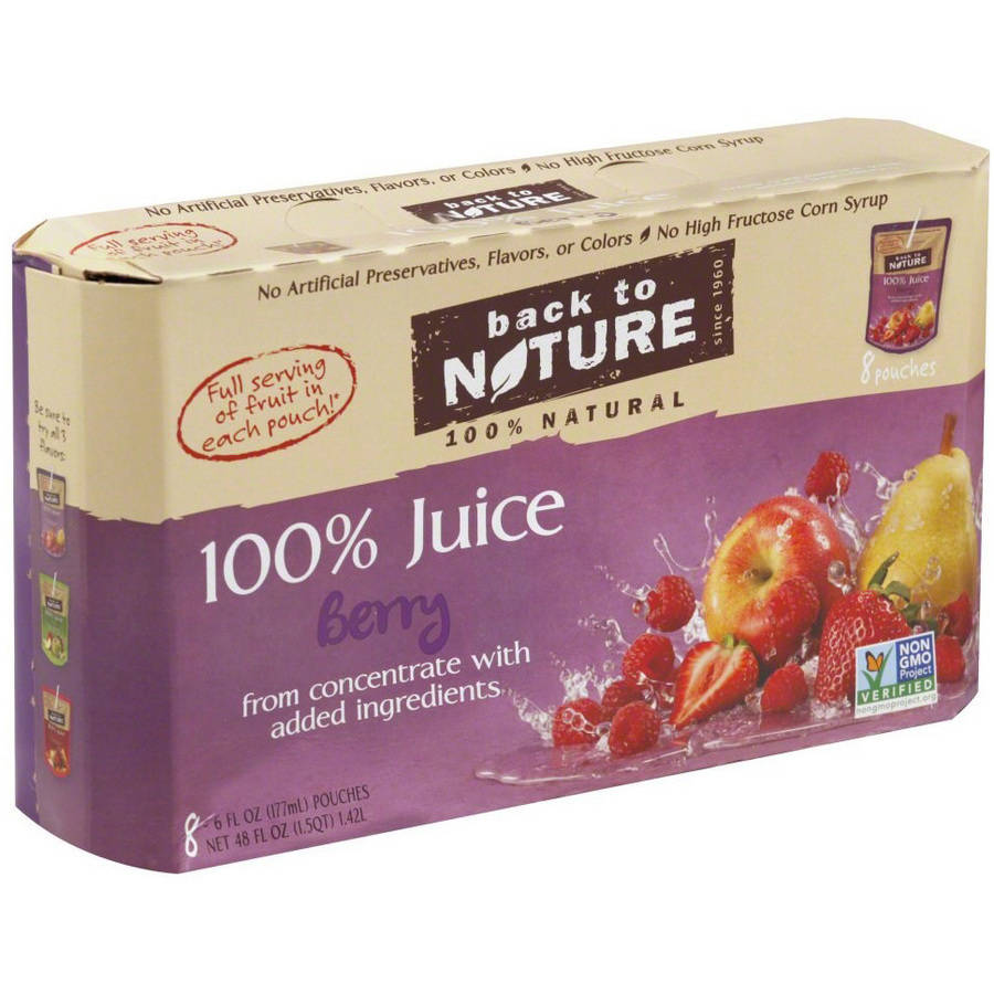 Back to Nature 100% Berry Juice, 8/6 FZ (Pack of 5)