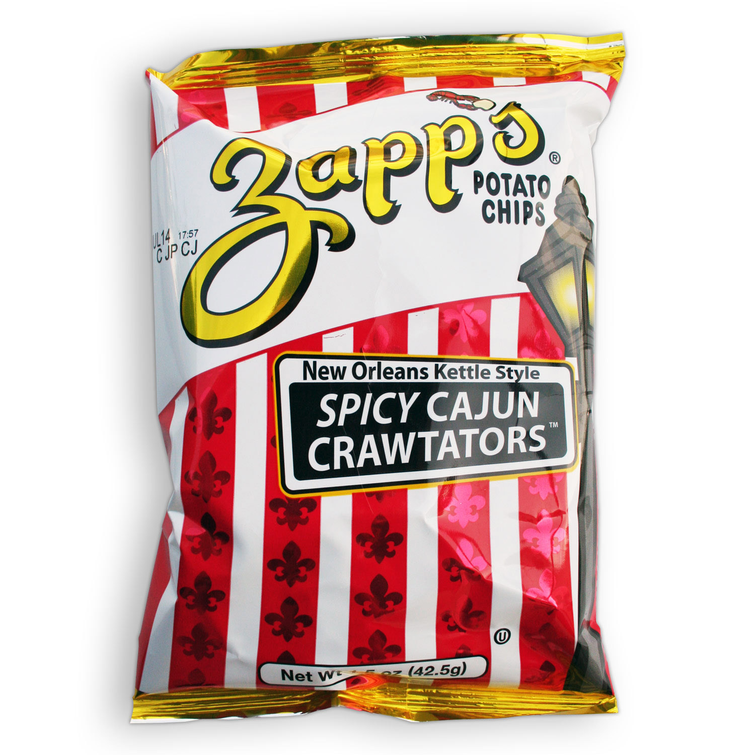 Zapps Potato Chips - Spicy Cajun Crawtators - 1.5 oz (Pack of 6)
