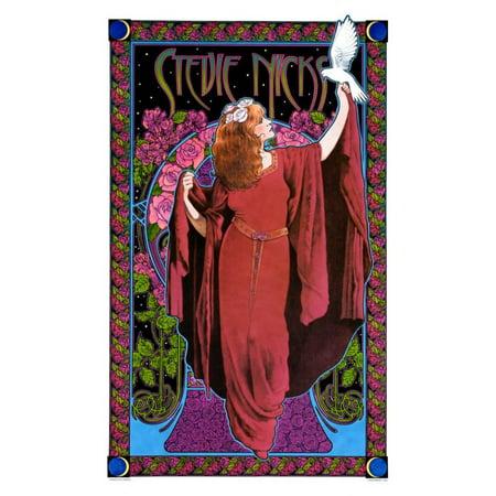 Stevie Nicks, White Winged Dove Art Print By Bob Masse - 15x24