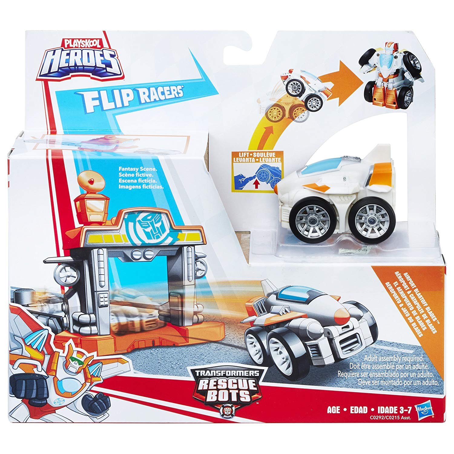 Playskool Heroes Flip Racers Transformers Rescue Bots Airport Blastoff Blades Quick Launch... by