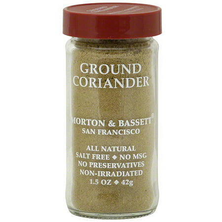 Morton & Bassett Spices Ground Coriander, 1.5 oz (Pack of 3)