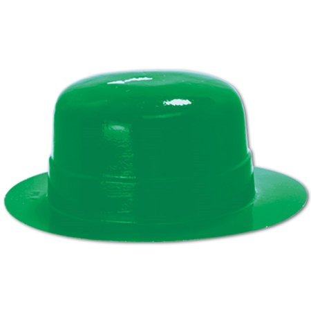 Club Pack of 48 St. Patrick's Day Miniature Green Plastic Derby Hat Costume Accessories 4.75