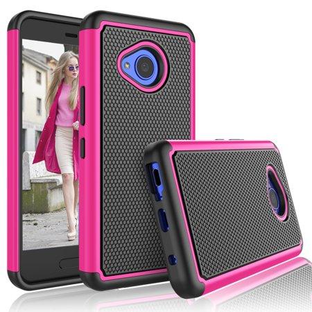 timeless design 5fa53 ce1c5 HTC U11 Life Case, HTC U 11 Life Case For Girls, Tekcoo [Tmajor] Shock  Absorbing [Hot Pink] Rubber Plastic Scratch Resistant Cute Rugged Sturdy  Bumper ...