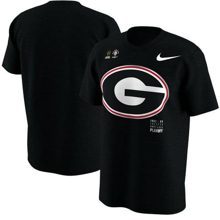 Nice Rose - Georgia Bulldogs Nike College Football Playoff 2018 Rose Bowl Bound Logo T-Shirt - Black