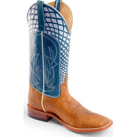 Horse Power Mens Blue Volcano Western Boot Square Toe   Hp1779