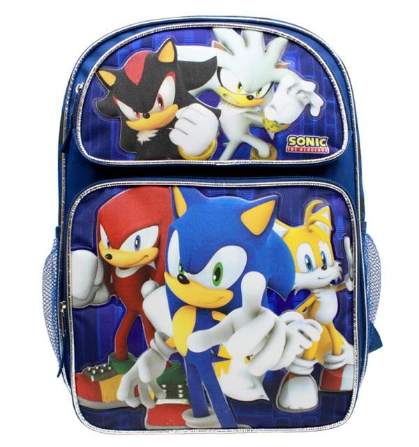 "Backpack - Sonic the Hedgehog - w/Kunckles/Tails 16"" School Bag Bew sh28752"