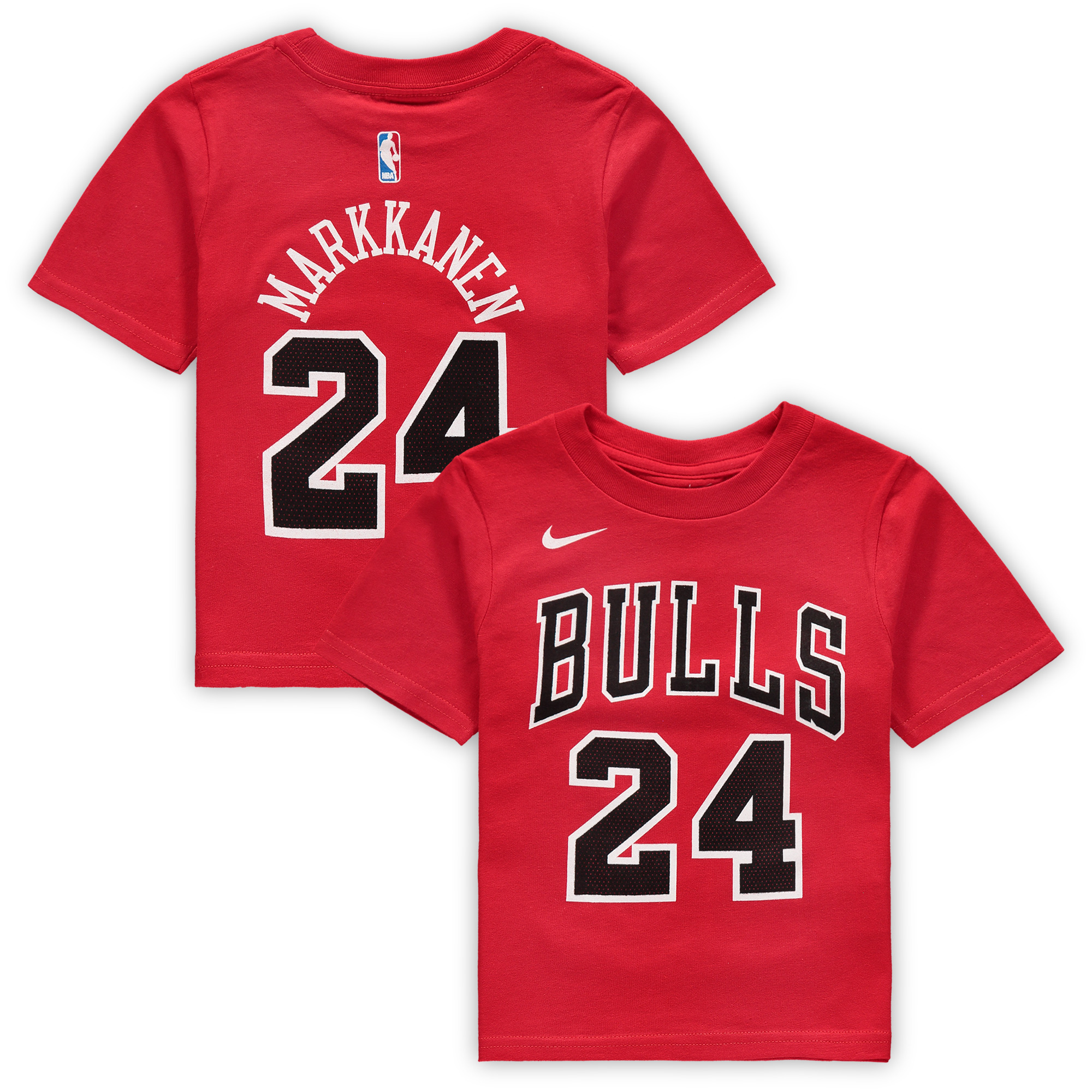 Lauri Markkanen Chicago Bulls Nike Toddler Name & Number T-Shirt - Red