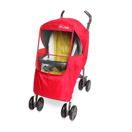 - Manito Elegance Plus Stroller Weather Shield/Rain Cover, Red