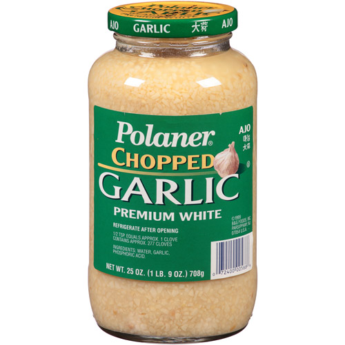 Polaner Premium White Chopped Garlic, 25 oz, (Pack of 6)