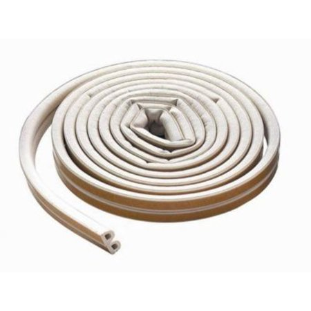 63628 17' All-Climate Extreme Temperature EPDM Rubber D-Profile Weatherstrip (White) ()