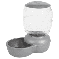 Petmate Replendish Feeder with Microban Pearl Silver Gray 10 lb.