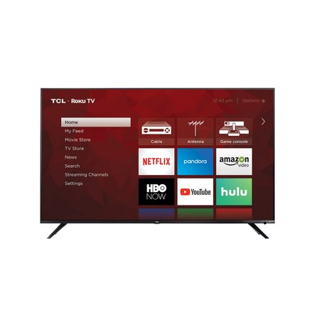 TCL 65u0022 Class 4K Dolby Vision HDR Roku Smart LED TV - (65R617)