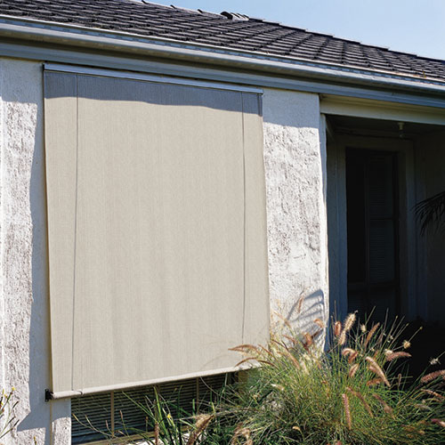 Natural White Roll Up Exterior Window Shades 4 X 6