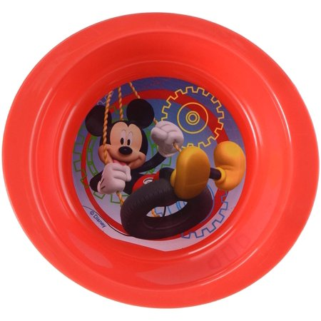 Mickey Mouse Bowls (Disney Baby Mickey Mouse Toddler Bowl, Colors May Vary, Bowl features deep sides for easy scooping By The First)