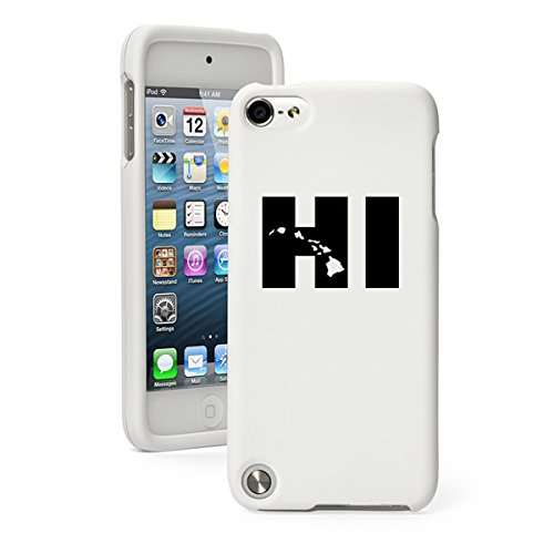 For Apple iPod Touch 5 5th Generation Rubber Hard Case Cover HI Hawaiian Islands Hawaii (White)