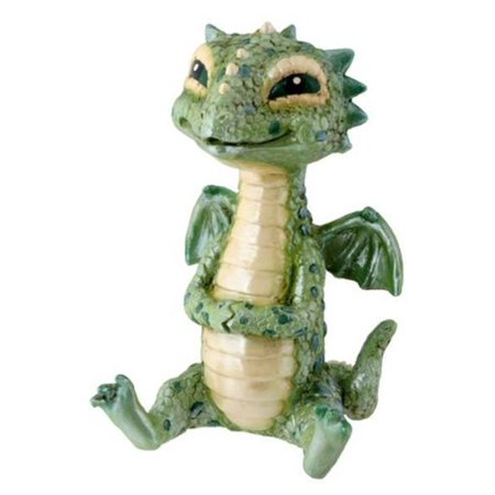 Collectible Statue Figurine - Green Baby Dragon Collectible Serpent Figurine Statue Reptile Statue