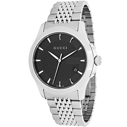 Gucci Men's Timeless Watch Quartz Sapphire Crystal YA126402