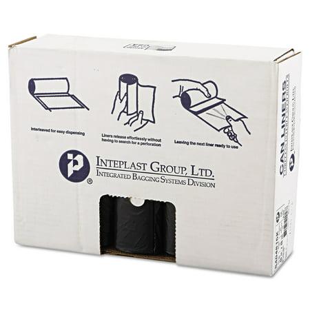 Inteplast Group High Density Trash Bag  40 X 48  45Gal  16Mic  Black  25 Roll  10 Rolls Carton