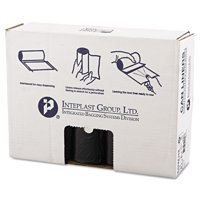 Inteplast Group High-Density Trash Bag, 40 x 48, 45gal, 16mic, Black, 25/Roll, 10 Rolls/Carton