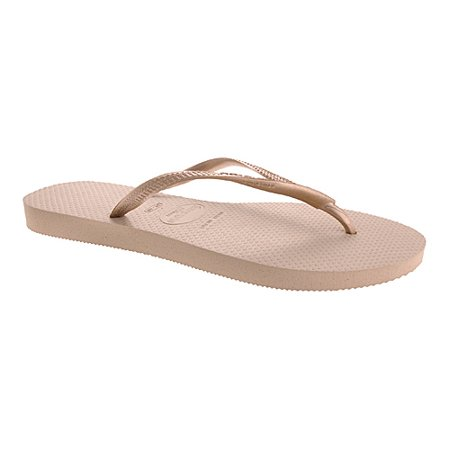Havaianas Women's Slim Sand Grey / Light Gold Rubber Sandal -